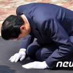 鳩山由紀夫 元総理 韓国で土下座