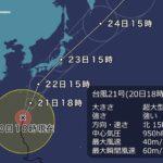 超大型の台風