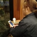 母敏子(68) 人生初スタバ