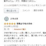 中華商品のアマゾンレビューは信用ならん
